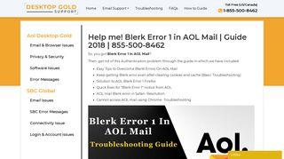 Solved - Blerk Error 1 in AOL Mail   Guide 2018   855-500-8462