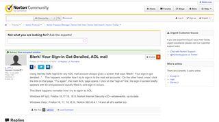Blerk! Your Sign-in Got Derailed, AOL mail   Norton Community