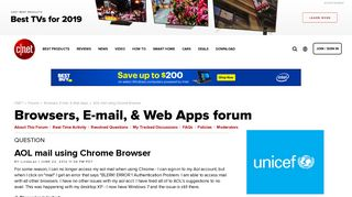 AOL mail using Chrome Browser - Forums - CNET