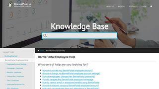 BerniePortal Employee Help - BerniePortal Knowledge Base