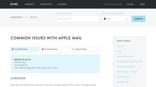 Common issues with Apple Mail - Media Temple