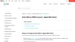 IMAP Configuration in Apple Mail - Zoho Mail
