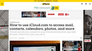 How to use iCloud.com to access mail, contacts, calendars, photos ...