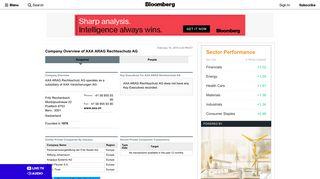 AXA ARAG Rechtsschutz AG: Private Company Information - Bloomberg