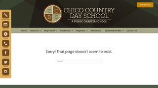 Chico Country Day School - Student/Parent Portal