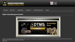 Digital Training Management System | US Army Combined Arms Center