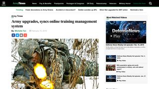 Army upgrades, syncs online training management system - Army Times