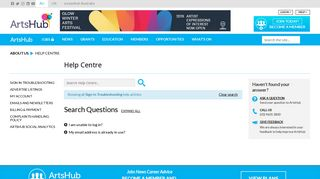 Search Sign-In Troubleshooting Faqs in the Help centre on ArtsHub ...
