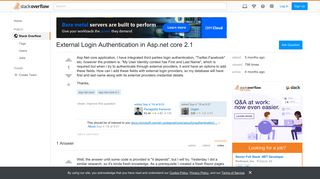 External Login Authentication in Asp.net core 2.1 - Stack Overflow