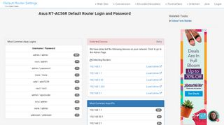 Asus RT-AC56R Default Router Login and Password - Clean CSS