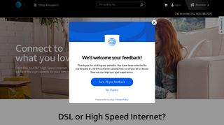 AT&T DSL Internet   Digital Subscriber Line Internet