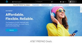 AT&T PREPAID - Prepaid Phones, Tablets & No Contract Plans