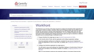 Workfront - Centrify Product Documentation