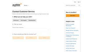 Contact Customer Service | Audible.com