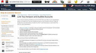 Amazon.com Help: Link your Amazon and Audible Accounts