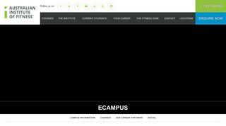 eCampus - Australian Institute of Fitness