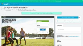 A page on fitness.edu.au in the collection