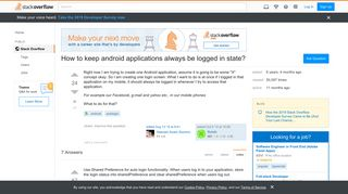 How to keep android applications always be logged in state ...