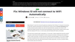 Fix: Windows 10 will not connect to WIFI Automatically - Appuals.com