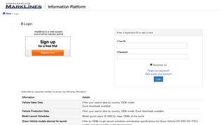 Login - Automotive Information Platform MarkLines