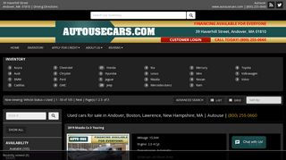 Used cars for sale in Andover, Boston, Lawrence, New ... - AutoUse
