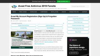 Avast My Account Registration & Forgotten Password - GetAvast.net