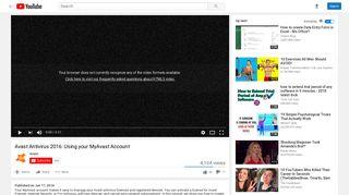 Avast Antivirus 2016: Using your MyAvast Account - YouTube