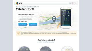 AVG Mobilation - Anti theft login   AVG Mobile Security
