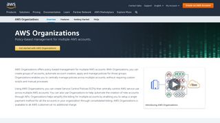 AWS Organizations   Amazon Web Services (AWS) - Amazon.com