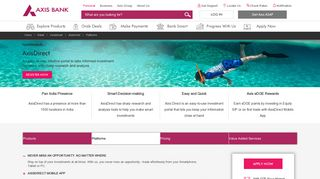 Axis Bank | Online Trading - The Axis Direct Advantage