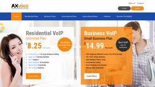 Axvoice: Internet Phone Service / VoIP Service Provider