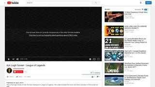 Azir Login Screen - League of Legends - YouTube