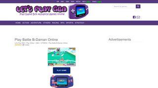 B Daman Battles Online Game Login