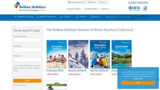 Agents Login Page   Balkan Holidays