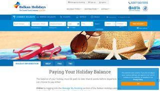 Paying Your Holiday Balance   Balkan Holidays