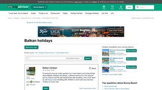 Balkan holidays - Sunny Beach Message Board - TripAdvisor