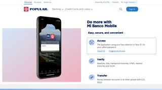 Mi Banco Mobile - Banco Popular Virgin Islands