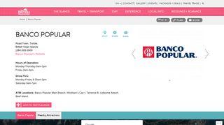 Banco Popular | The British Virgin Islands