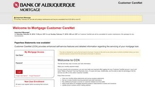 Welcome to our online mortgage payment website.