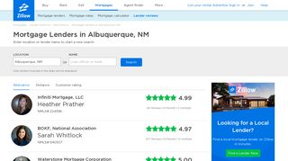 Albuquerque, NM Mortgage Lenders & Reviews | Zillow