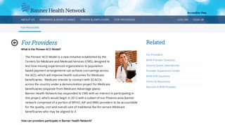For Providers - Banner Health Network