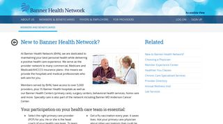 New To Banner Health Network