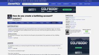 How do you create a battlelog account? - Battlefield 3 Answers for ...