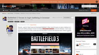 Battlefield 3 forces to login battlelog in browser - PC Gaming ...