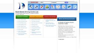 Bukit Batok Driving Centre Ltd > Home