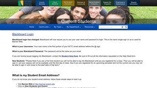 SCTC | Current Students | Blackboard - BbL Login