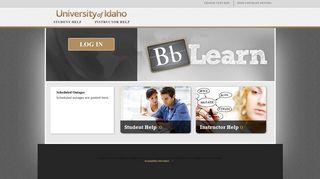 BB Learn Login - BbLearn - University of Idaho