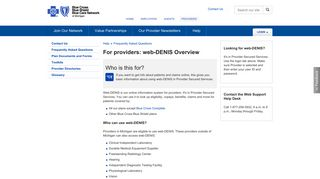 web-DENIS Overview | Provider Help | bcbsm.com