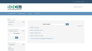 BDC online: Course categories