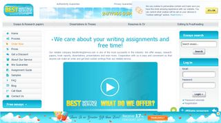 BestWritingService.com - Because We Care